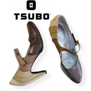 TSUBO brown graded Mary Jane pumps